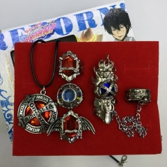 Hitman Reborn Cosplay Cartoon Decoration Jewelry Anime Necklace+Ring (Set)