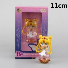 Pretty Soldier Sailor Moon Pink Color Cartoon Toys Statue Cute Anime PVC Action Figure 11cm