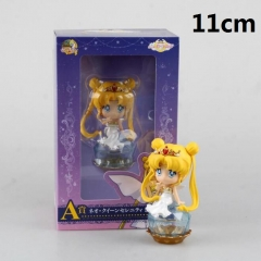 Pretty Soldier Sailor Moon Blue Color Cartoon Toys Statue Cute Anime PVC Action Figure 11cm