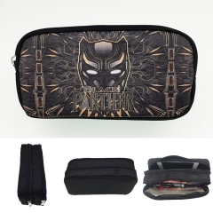 Black Panther Cosplay Movie For Student Anime Pencil Bag