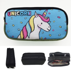 Unicorn Cosplay Cartoon Waterproof For Girls Student Anime Pencil Bag