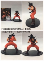 Dragon Ball Z Goku Red Clothes Cartoon Model Toys Statue Japanese Anime PVC Figure 16cm