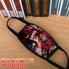 Black Clover Cosplay Cartoon Mask Space Cotton Anime Print Mask
