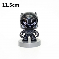 Black Panther Can Change Face Cartoon Model Toys Statue Q-version Anime PVC Figure 11.5cm