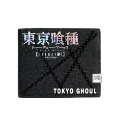 Tokyo Ghoul Black Short Wallet PU Leather Bifold Wallets Women Coin Purse