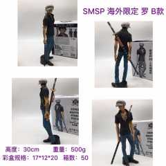 One Piece Cartoon Model Toys Statue Trafalgar Law with Hat Anime PVC Figure 30CM