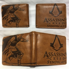 Assassin's Creed Cosplay Hot Cartoon PU Anime Wallet Bifold Coin Purse