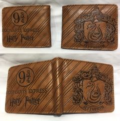 Harry Potter Cosplay Hot Movie Cartoon PU Anime Wallet Bifold Coin Purse