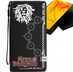The Seven Deadly Sins Black Long Wallet PU Leather Bifold Wallets Women Coin Purse