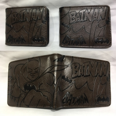 Batman Cosplay Hot Movie Cartoon PU Anime Wallet Bifold Coin Purse