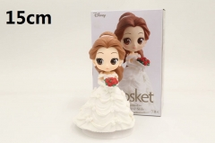 Beauty and the Beast Bella Princess White Wedding Dress Cartoon Model Toys Qposket Anime PVC Figures 15cm
