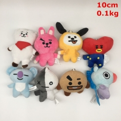 K-POP BTS Bulletproof Boy Scouts Cosplay Cartoon For Kids Gift Doll Anime Plush Toy Pendant (8pcs/set)