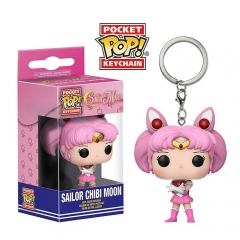 Funko Pop Pretty Soldier Sailor Moon PVC Model Toys Key Ring Anime Cartoon Figures Pendant Keychain