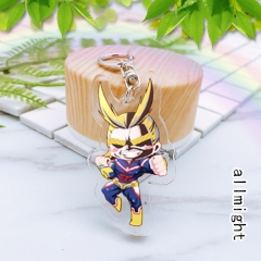 Boku No Hero Academia/My Hero Academia Cute Acrylic Cartoon Keychin Anime Decoration Key Chains