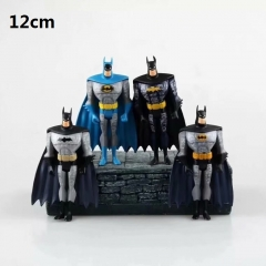 4pcs/set Batman Different Colors Cartoon Collection Model Toy Statue Anime PVC Figure 12cm