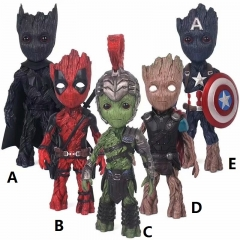 6 Designs Choose Guardians of the Galaxy Groot Cosplay Super Hero Model Toy Statue PVC Action Figures 18-21cm