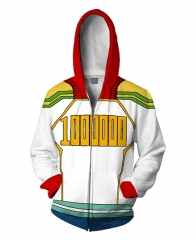 Boku No Hero Academia/My Hero Academia 3D Cosplay Cartoon Zipper Hooded Fashion Long Sleeve Hoodie