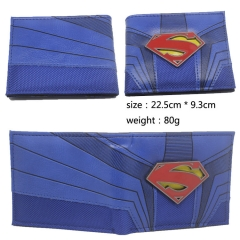 Superman Hot Movie Purse Wholesale Bifold PU Anime Wallet