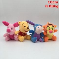 Disney Winnie the Pooh Cosplay Cartoon For Kids Gift Doll Anime Plush Toy Pendant (4pcs/set)