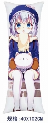 Is the Order a Rabbit? Cosplay Cartoon Stuffed Bolster Anime Pillow 40*102cm