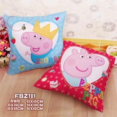 Peppa Pig Fancy Pillow Square Stuffed Bolster Anime Pillow