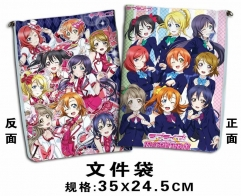 LoveLive Cosplay Cartoon For Student Office File Holder Anime File Pocket