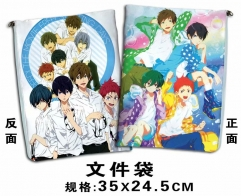 Free! Cosplay Cartoon For Student Office File Holder Anime File Pocket