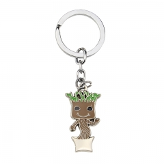 Movie Guardians Of The Galaxy Groot Cartoon Alloy Keychain Decoration Pendant