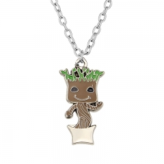 Movie Guardians Of The Galaxy Groot Cartoon Alloy Necklace Decoration Necklace