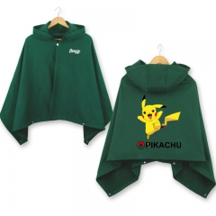 Pokemon Pikachu Cosplay Cloak Halloween Fashion Anime Party Clothes Costume