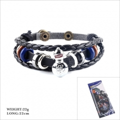 Naruto Cosplay Cartoon Woven Leather Bangles Anime Bracelet