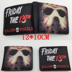 Friday the 13th Hot Anime Cartoon PU Wallet Bifold Coin Purse