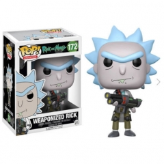 Funko POP Rick and Morty Weaponized Rick PVC Model Toys Anime Cartoon Figures 172#