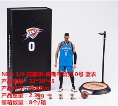NBA Star Russell Westbrook Cartoon Model Toys Statue 1/6 Scale Anime PVC Action Figure 30cm