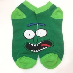 Rick and Morty Cosplay Cartoon For Adult Fashion Anime Short Socks