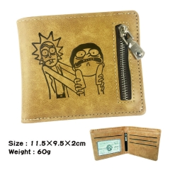 Rick and Morty Cosplay Cartoon Fashion Purse Bifold Anime Wallet