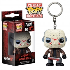 Funko Pop Friday the 13th Jason Voorhees PVC Model Toys Key Ring Anime Cartoon Figures Pendant Keychain