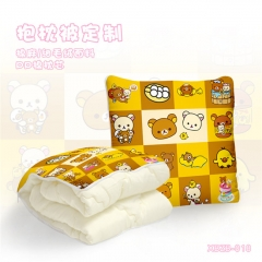 Kawaii Rilakkuma Soft Pillow Cartoon PP Cotton Blanket Stuffed Pillow
