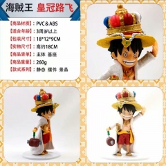 One Piece Crown Luffy Cosplay Cartoon Collection Model Toys Anime Plastic Figure