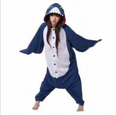 Animal Cute Shark Cartoon Cosplay New Kawaii Pyjamas Warm Winter Anime Flannel Pyjamas