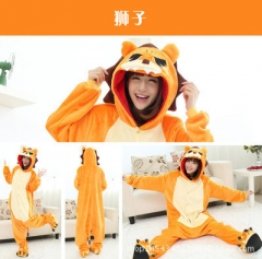 Animal Cartoon Cosplay New Kawaii Pyjamas Warm Winter Anime Flannel Pyjamas Child And Adult Size