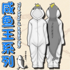The King Of Salted Fish Cartoon Cosplay New Kawaii Pyjamas Warm Winter Anime Flannel Pyjamas
