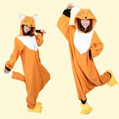Animal Fox Cartoon Cosplay New Kawaii Pyjamas Warm Winter Anime Flannel Pyjamas