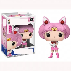 Funko POP Pretty Soldier Sailor Moon 295# Sailor Chibimoon Cartoon Model Toys Statue Anime PVC Figure