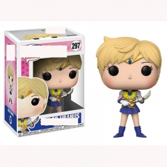 Funko POP Pretty Soldier Sailor Moon 297# Tenoh Haruka Cartoon Model Toys Statue Anime PVC Figure