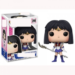 Funko POP Pretty Soldier Sailor Moon 299# Sailor Saturn Cartoon Model Toys Statue Anime PVC Figure