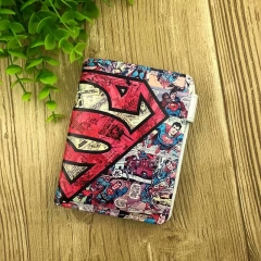 Superman Movie Cosplay Cartoon Short Purse Anime PU Leather Wallet