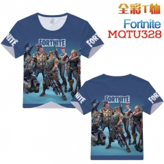Fortnite Cosplay Game Cartoon Print Anime Short Sleeves Style Round Neck Comfortable T Shirts