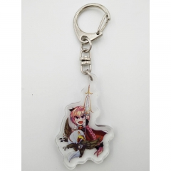 Japanese Cartoon Fate Stay Night  Kawaii Keychain Acrylic Key Chains