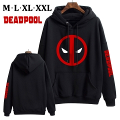Deadpool Cotton Hoodie Soft Thick Hooded Hoodie Warm With Hat Sweatshirts